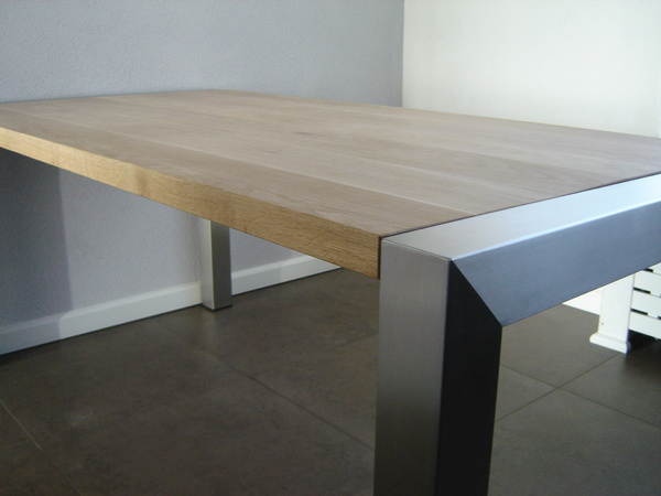 Rvs Onderstel Tafel : Rvs onderstel tafel. affordable eiken tafel rvs onderstel olie
